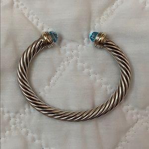 David Yurman 7mm Blue Topaz Cable Bracelet
